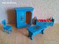 Дървени мебели за кукленска къща