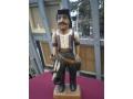 Южно-американска дървена фигура гаучо (каубой)