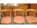 Ретро столове и диван - орех